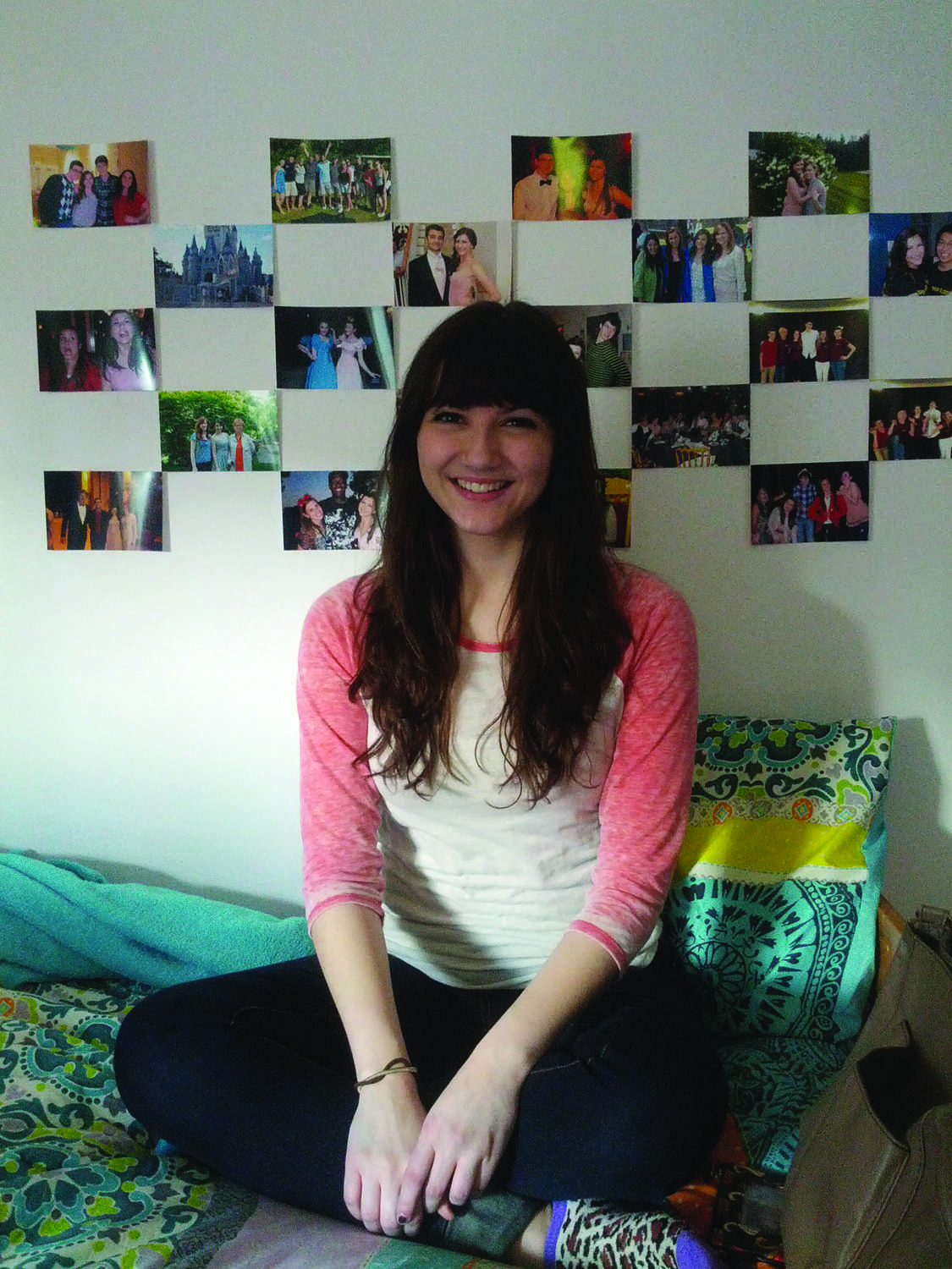 Alexandra Vittorini, FCLC U002715, Smiles In Her Newly Decorated Dorm Room. ( Part 10