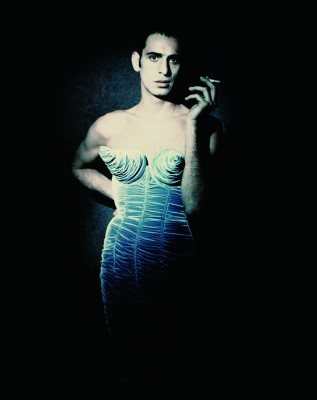 "Tanel Bedrossiantz for Jean Paul Gaultier's ""Barbès"" women's ready-to-wear fall-winter collection of 1984–85 (Photograph by Paolo Roversi, photo courtesy of http://www.brooklynmuseum.org)"