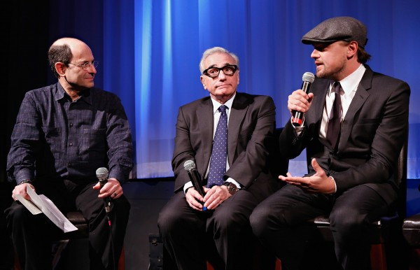 Moderator Brian Rose, director Martin Scorsese and actor Leonardo DiCaprio attend the Academy of Motion Picture Arts and Sciences Official Academy Members screening of 'The Wolf Of Wall Street' at the Academy Theater at Lighthouse International on December 18, 2013 in New York City.  Photo courtesy of Cindy Ord/Getty Images for Academy of Motion Picture Arts and Sciences