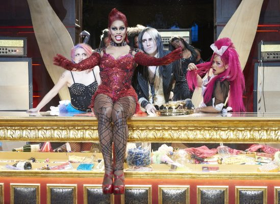 """Annaleigh Ashford, Laverne Cox, Reeve Carney and Christina Milian star in """"THE ROCKY HORROR PICTURE SHOW: LET'S DO THE TIME WARP AGAIN."""" (PHOTO COURTESY OF STEVE WILKIES/ FOX)"""