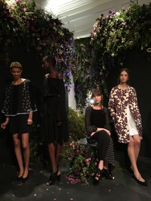 The Club Monaco presentation included floral prints and structured silhouettes. (KARIN HADADAN/THE OBSERVER)