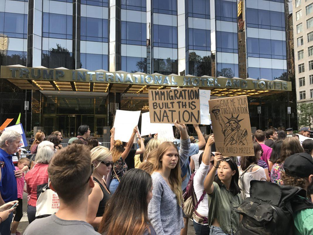 photo essay daca protest in columbus circle • fordham observer photo essay daca protest in columbus circle