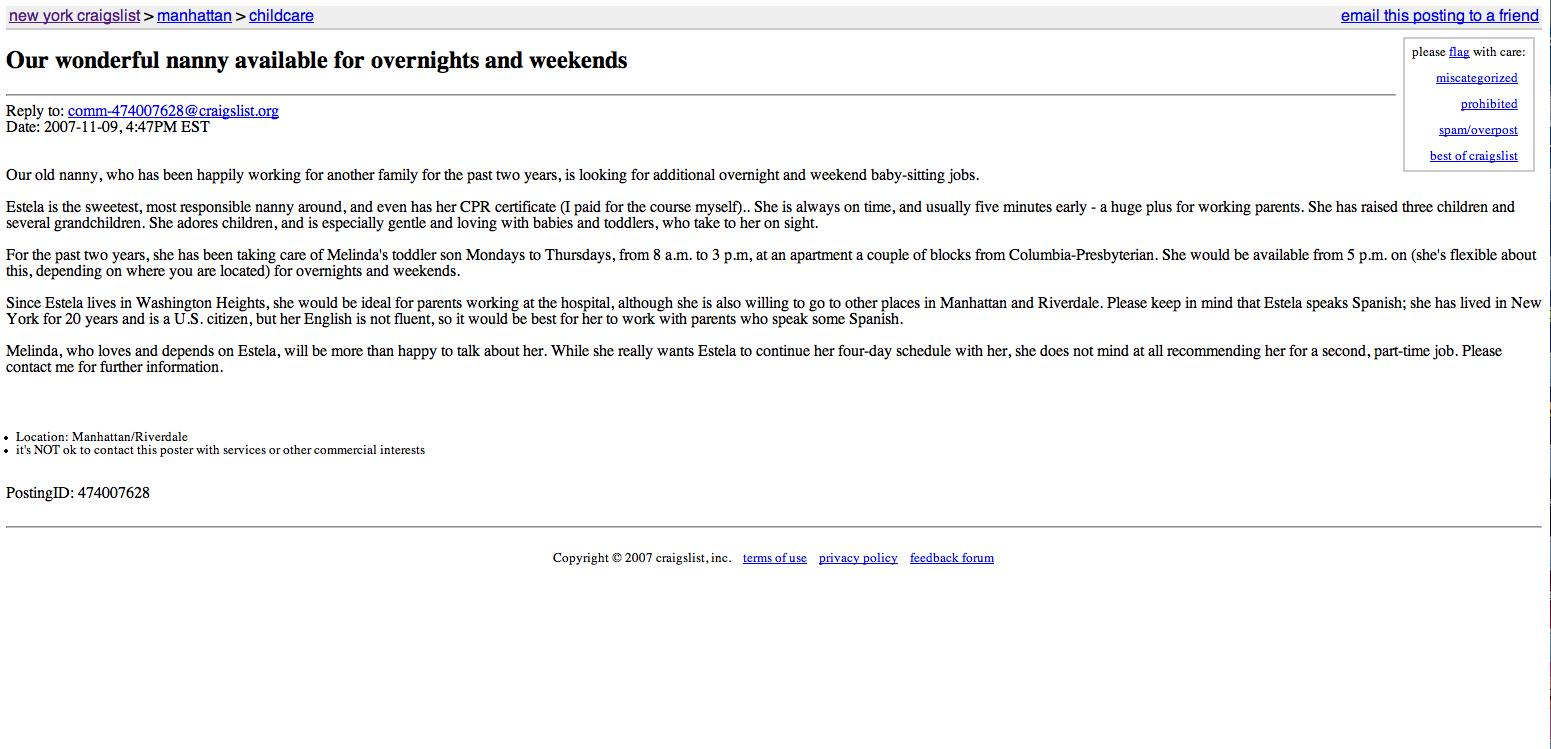 How Much Can We Trust Web Sites Like Craigslist The Observer