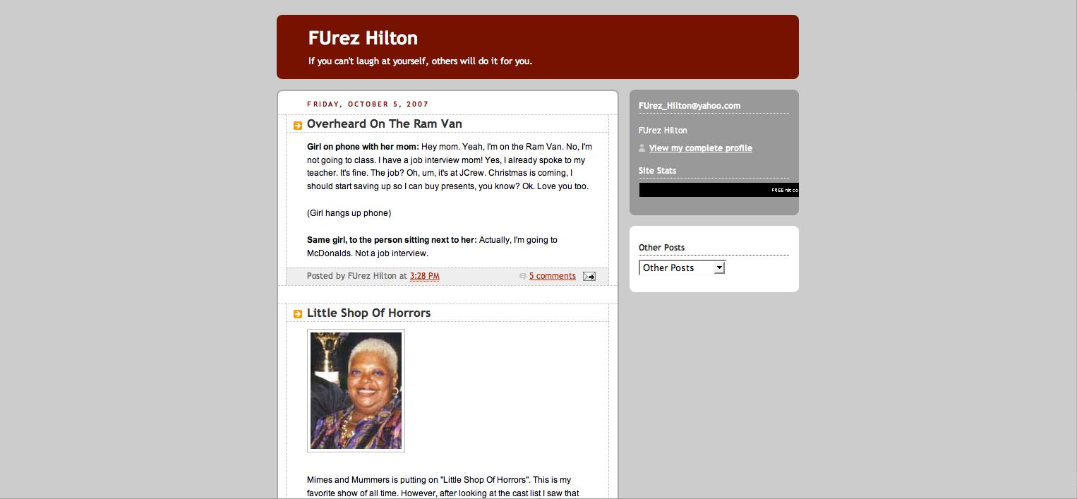 Fordham Gossip Blogger FUrez Hilton Tells All - The Observer
