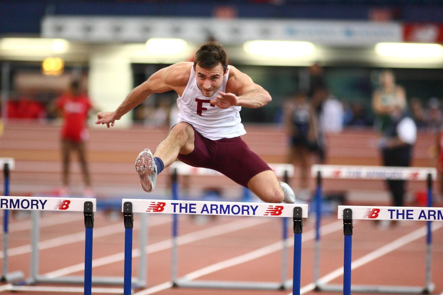 Sam Houston, FCRH '14, earned Second Team All-Atlantic 10 honors with his second-place finish in the heptathlon. (Courtesy of Fordham Sports)