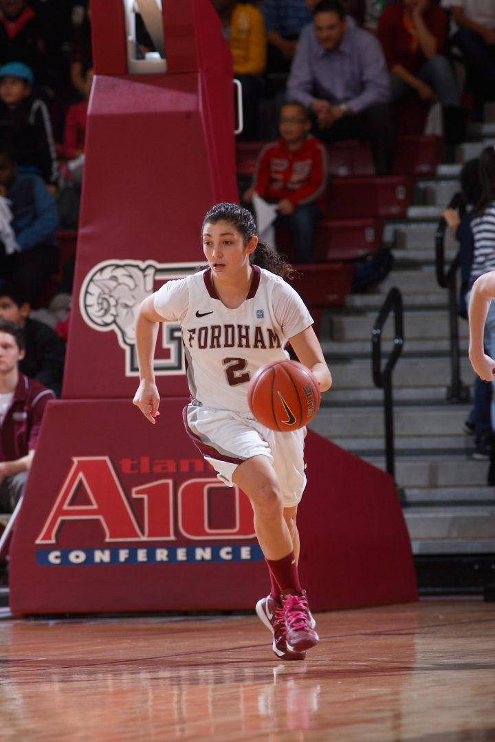 Arielle Collins, FCRH '13, has been a key part of the team's great season. (Courtesy of Fordham Sports)