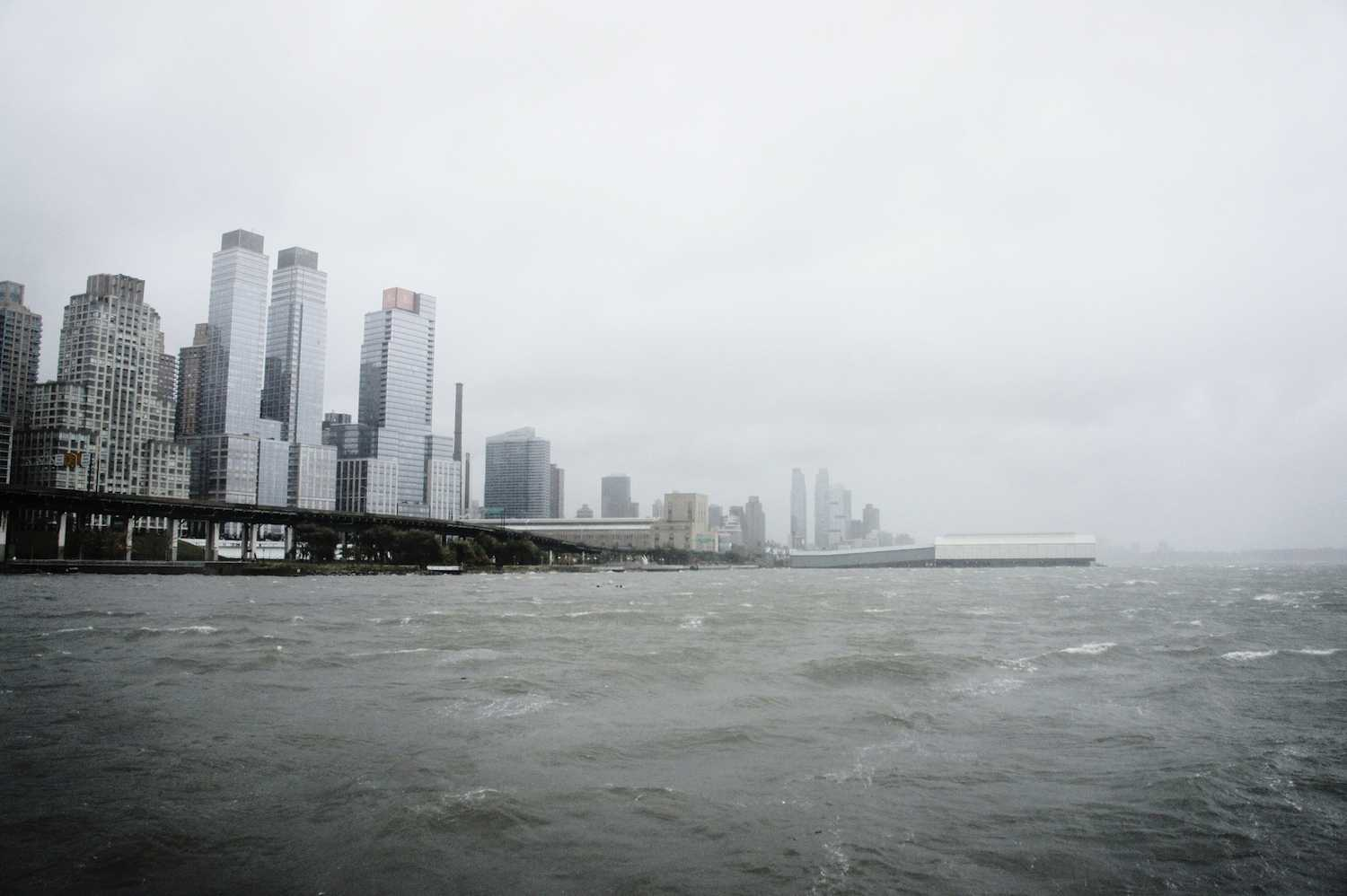 As Hurricane Sandy approached the East Coast and New York City on Oct. 29, here pictured around 2 p.m. at Riverside Park looking at the Hudson River, Fordham residents and commuters bunkered down and prepared for possible flooding and power outages.