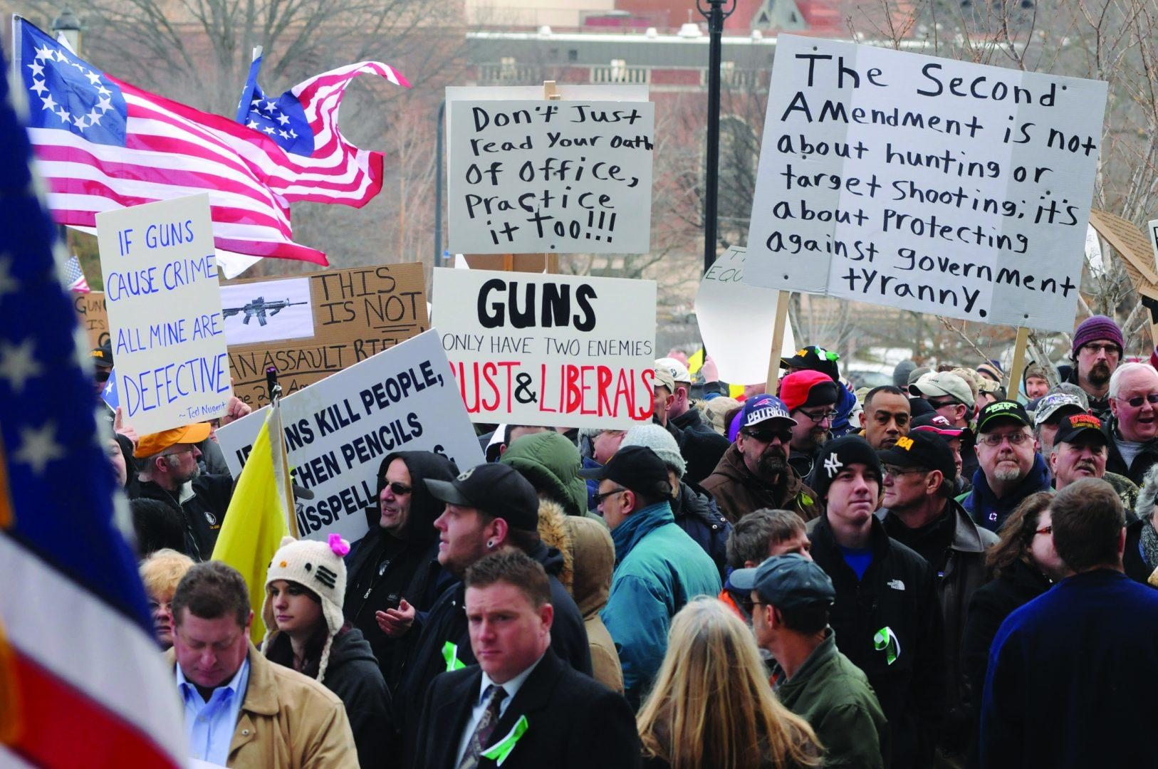 In a nation with such extreme opposing views on gun control, compromise is the first step to protecting lives. (Rick Hartford/Hartford Courant/MCT)