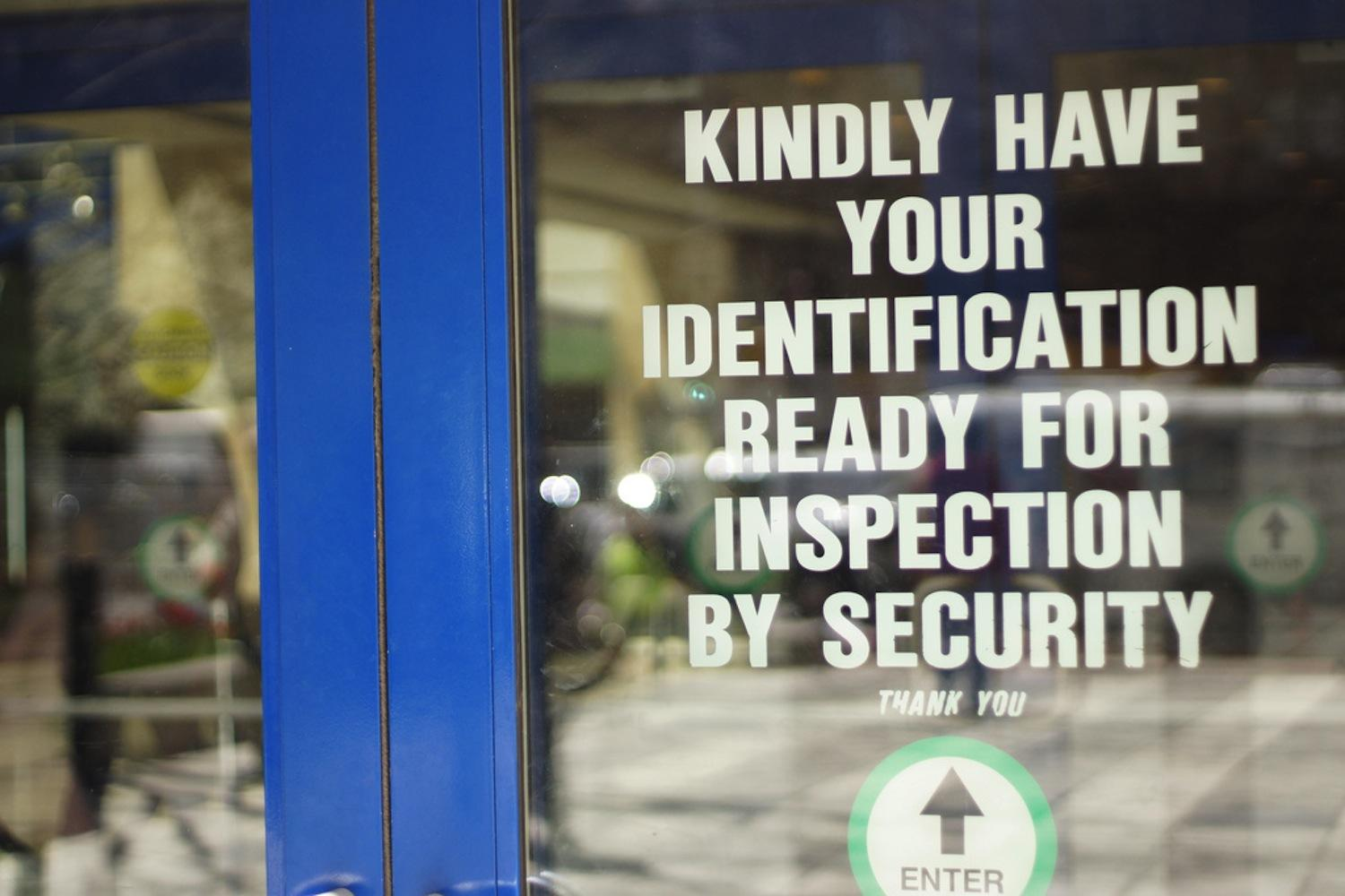 Security measures at Fordham College at Lincoln Center include having to show an school ID at every entrance of McMahon and Lowenstein. (Tavy Wu/The Observer)