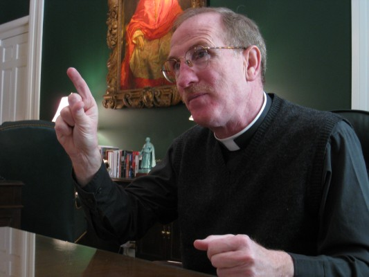 Joseph M. McShane, S.J gave his reactions to comments from Pope Francis. (Lisa Spiteri/The Observer)