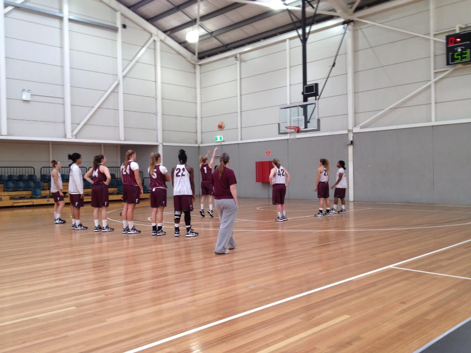 The women's basketball team has gotten an early start in 2013, traveling abroad to play ball in Australia. (Courtesy of Fordham Sports)
