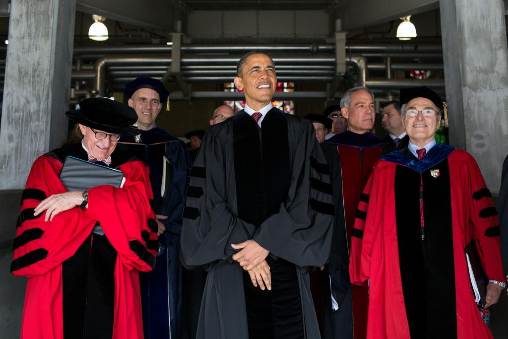 President Obama attends the Ohio State University commencement ceremonies. (Courtesy of The Whitehouse)
