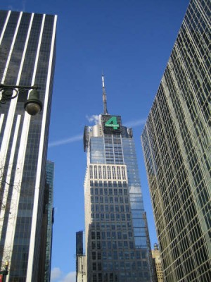 The Conde Nast building in Times Square (Fred via Wikimedia Commons)