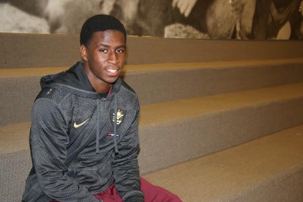 FCRH '15 student and football player Sam Ajala. (Jennifer Khedaroo/The Observer)