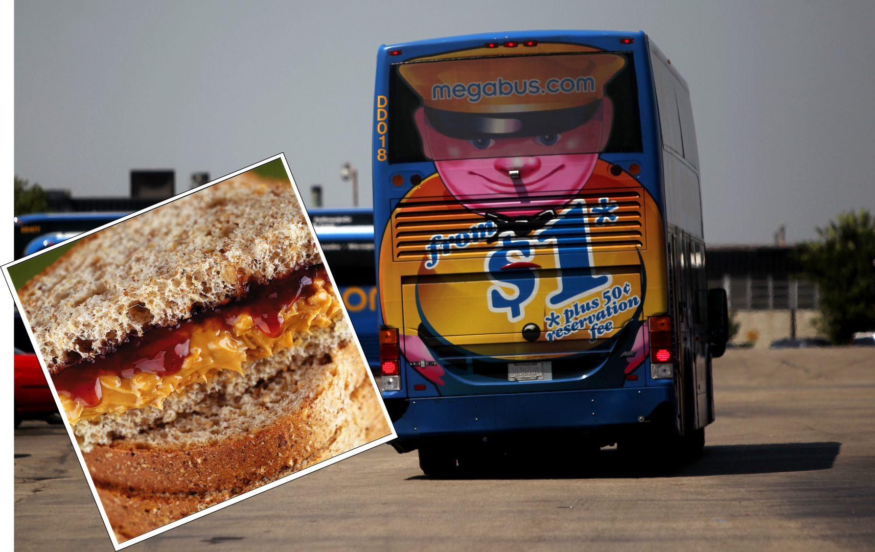 Missed your Megabus to make a PB&J? Yeah, Jewel feels you. (Inset: KRT PHotograph Via Chicago Tribune/MCT; Terrence Antonio James/ Chicago Tribune/MCT)