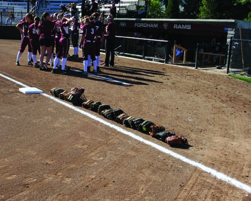 The softball team started their season off in Orlando, Fla. with a 2-1 record. (Courtesy of Fordham Sports)