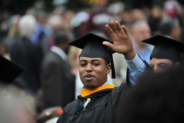Nahom Kidanemariam at his graduation from Fordham University, Gabelli School of Business.