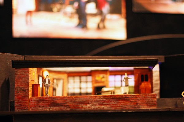 """Model set for """"Not All Thieves Come to Harm Us,"""" designed by Daniel Geggatt, FCLC '14. (Tyler Martins/The Observer)"""