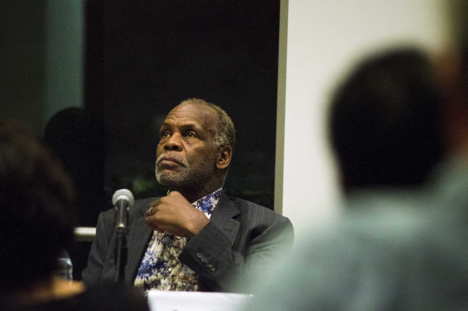 """Danny Glover during the panel following a screening of """"Tula: The Revolt."""" (Ian McKenna/The Observer)"""