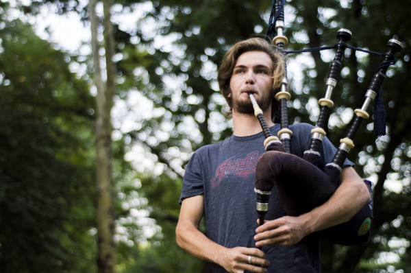 Tyler Tagliaferro, FCLC '17, practices in Central Park. (Ian McKenna/The Observer)