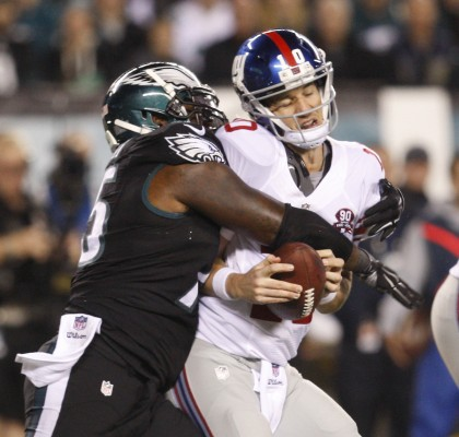 Eli Manning may not be an elite quarterback anymore, but replacing him will not fix the Giants. (Photo Courtesy of Ron Cortes /Philadelphia Inquirer via TNS)