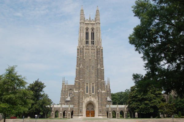 The centerpiece of the highly ranked Duke university is the Duke Chapel. (Courtesy of Siuki Wong via Flickr)