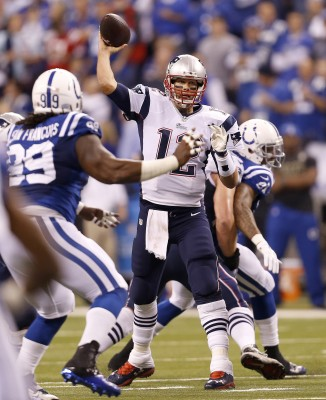 Quarterback of the New England Patriots, Tom Brady, leads his team against the the Colts. (Sam Riche/MCT)