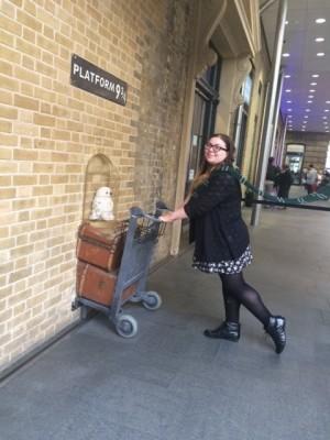 Marissa on her way to Hogwarts (PHOTO COURTESY OF MARISSA SBLENDORIO)