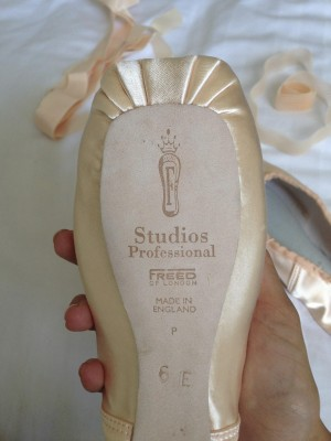 The pointe shoes I bought. The original Freed store (PHOTO COURTESY OF SYDNEY THORNELL)