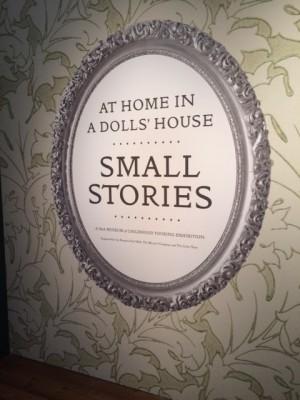 "Entrance to the ""Small Stories"" exhibit PHOTO COURTESY OF MARISSA SBLENDORIO)"