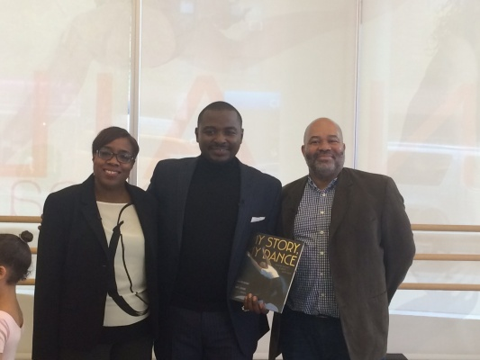 Robert Battle with his author and illustrator Lesa Cline-Ransome and James E. Ransome. (PHOTO COURTESY OF SOMEONE)