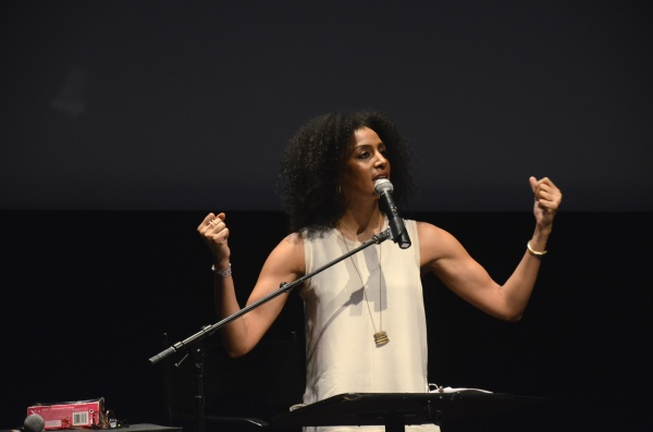Sarah Jones opened the exhibition with a hilarious performance. (Andronika Zimmerman / The Observer)