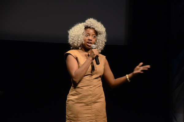 Sophia Dawson, one of the featured artists, shared her work that evening. (Andronika Zimmerman / The Observer)