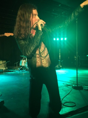 BØRNS gets up close and personal with the audience at WinterFest 2016. (REESE RAVNER/THE OBSERVER)