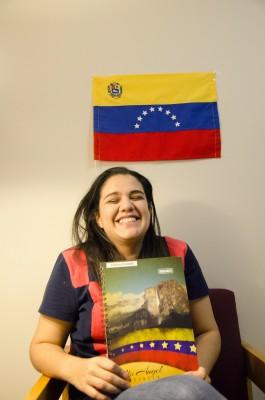 Andrea Arizaleta Valera, FCLC '17, originally from Caracas, Venezuela. (PHOTO BY ANDRONIKA ZIMMERMAN/THE OBSERVER)