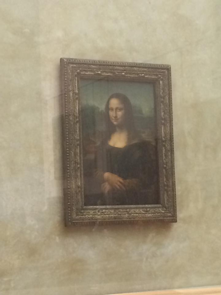 Leonardo da Vinci's most famous work is much smaller than I had imagined. (MORGAN STEWARD/ THE OBSERVER)