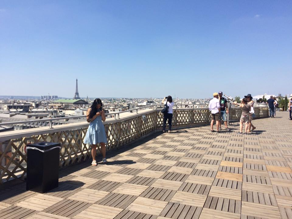 A rooftop view of the Paris skyline from the Galeries Lafayette. (MORGAN STEWARD/ THE OBSERVER)