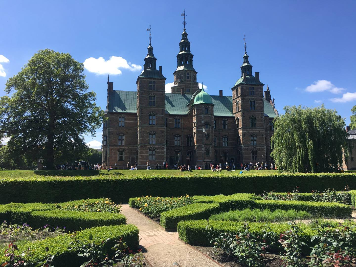 A view from the garden leading up to Rosenborg Castle. (MIRANDA POWERS/ THE OBSERVER)