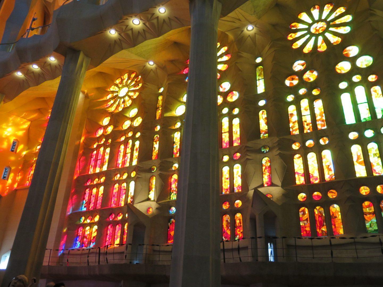 The beautiful stained glass windows of the Sagrada Familia. (DEIRDRE MCGRATH/ THE OBSERVER)