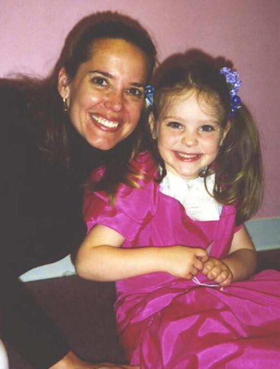 A photo of Callan (age 5) and her mother. (Photo courtesy of Callan McCarthy)
