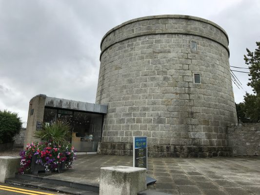 The outside of the Martello Tower where James Joyce once lived, which currently serves as a museum. (ERIKA ORTIZ/THE OBSERVER)