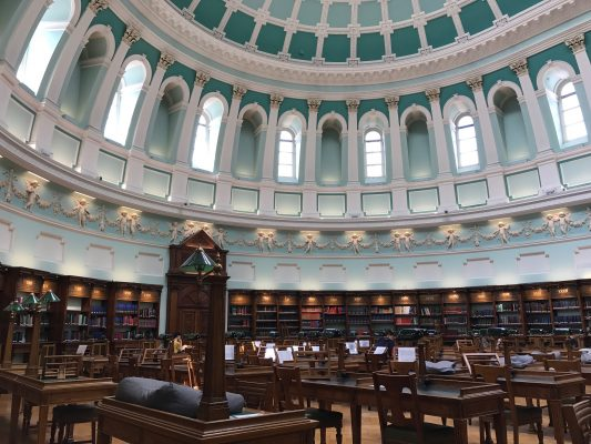 Inside the Reading Room of the National Library of Ireland. (ERIKA ORTIZ/THE OBSERVER)
