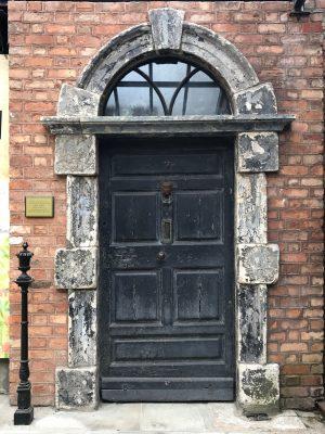 The front door of Number 7 Eccles Street was saved from demolition. (ERIKA ORTIZ/THE OBSERVER)